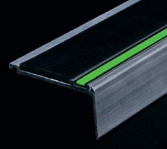 Aluminator Photoluminescent Nosing Floor Amp Wall