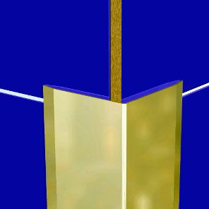 Aluminium Anodised Gold 25 x 25mm Corner Guard