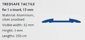 Anti slip tactile strip 32mm wide